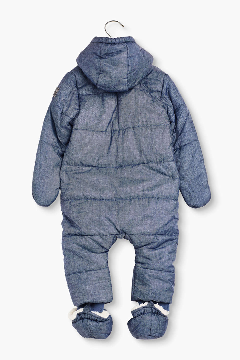 Padded snow suit in a denim look