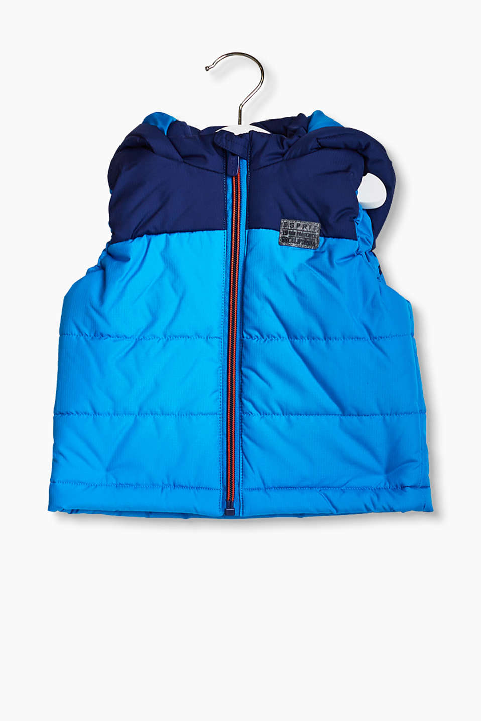 esprit veste bicolore sans manches et capuche acheter sur la boutique en ligne. Black Bedroom Furniture Sets. Home Design Ideas