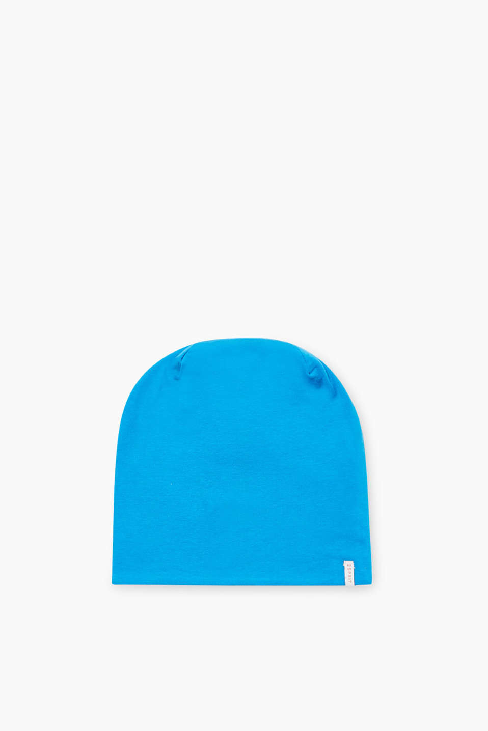 Reversible soft jersey beanie, stretch cotton