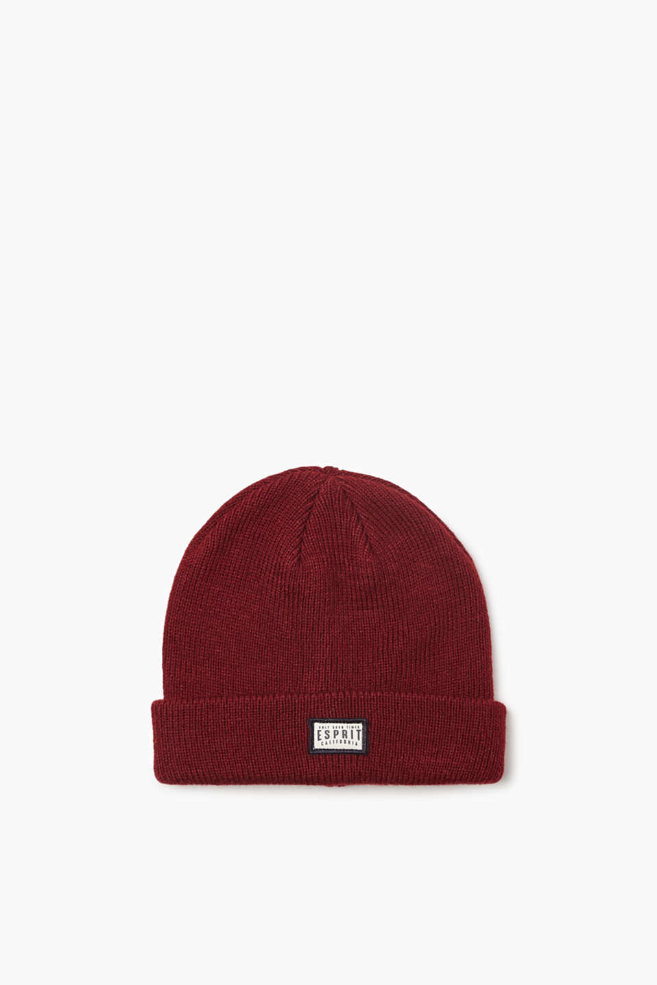 Esprit - Knitted beanie with a logo badge