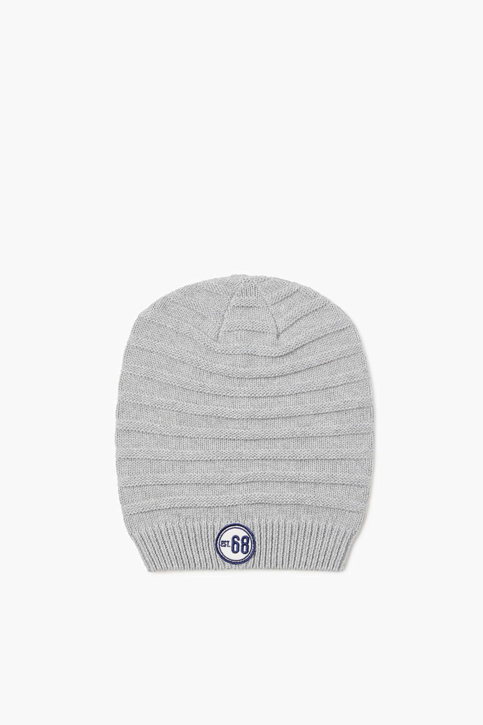 Esprit - Knitted beanie in 100% cotton