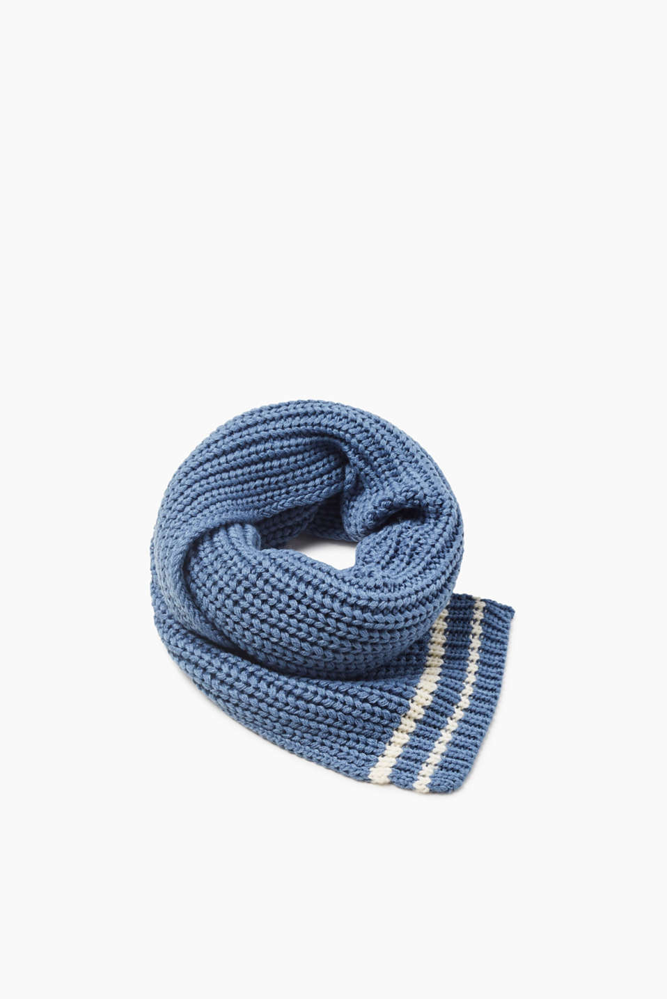 Esprit - Narrow knitted scarf with stripes