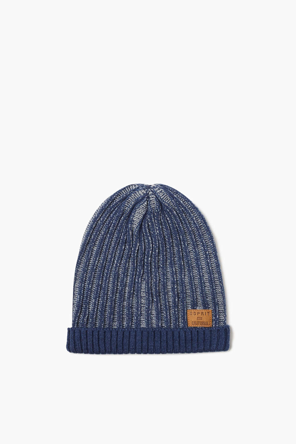 Esprit - Ribbed-knit hat in a two tone look