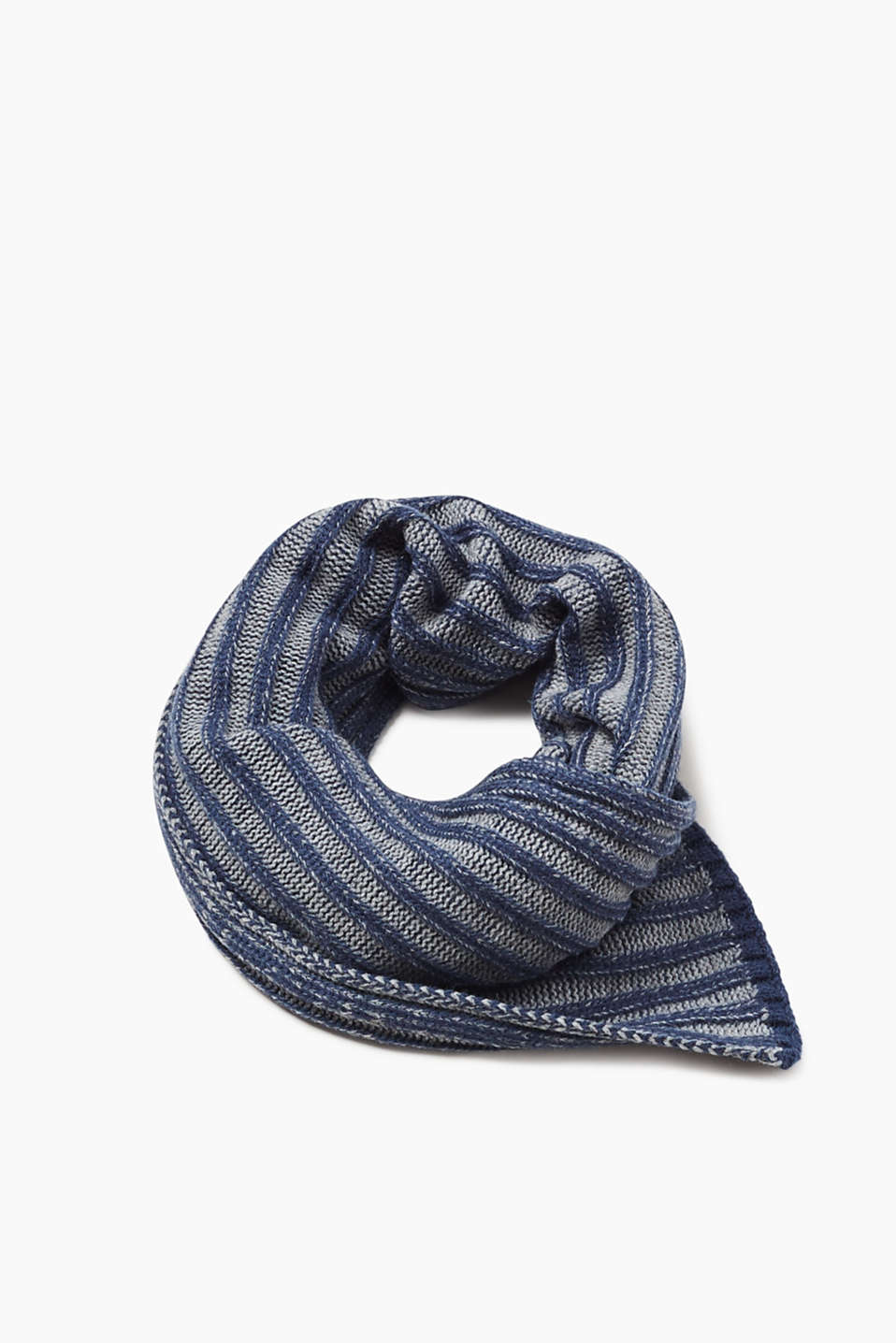 Esprit - Scarf in a melange ribbed knit