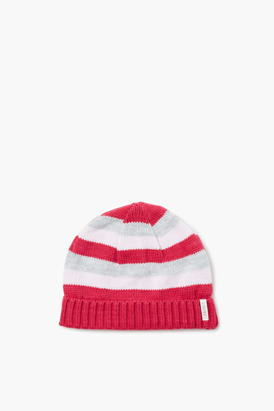 Esprit - Striped hat with jersey lining