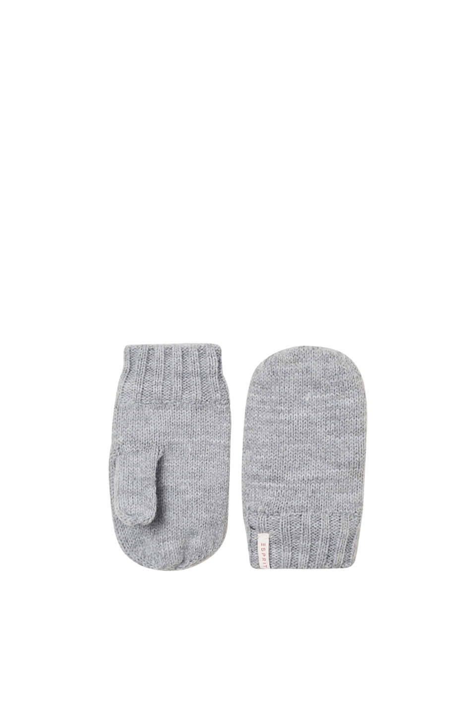 We love knitwear! And these mittens in melange knit fabric are no exception!