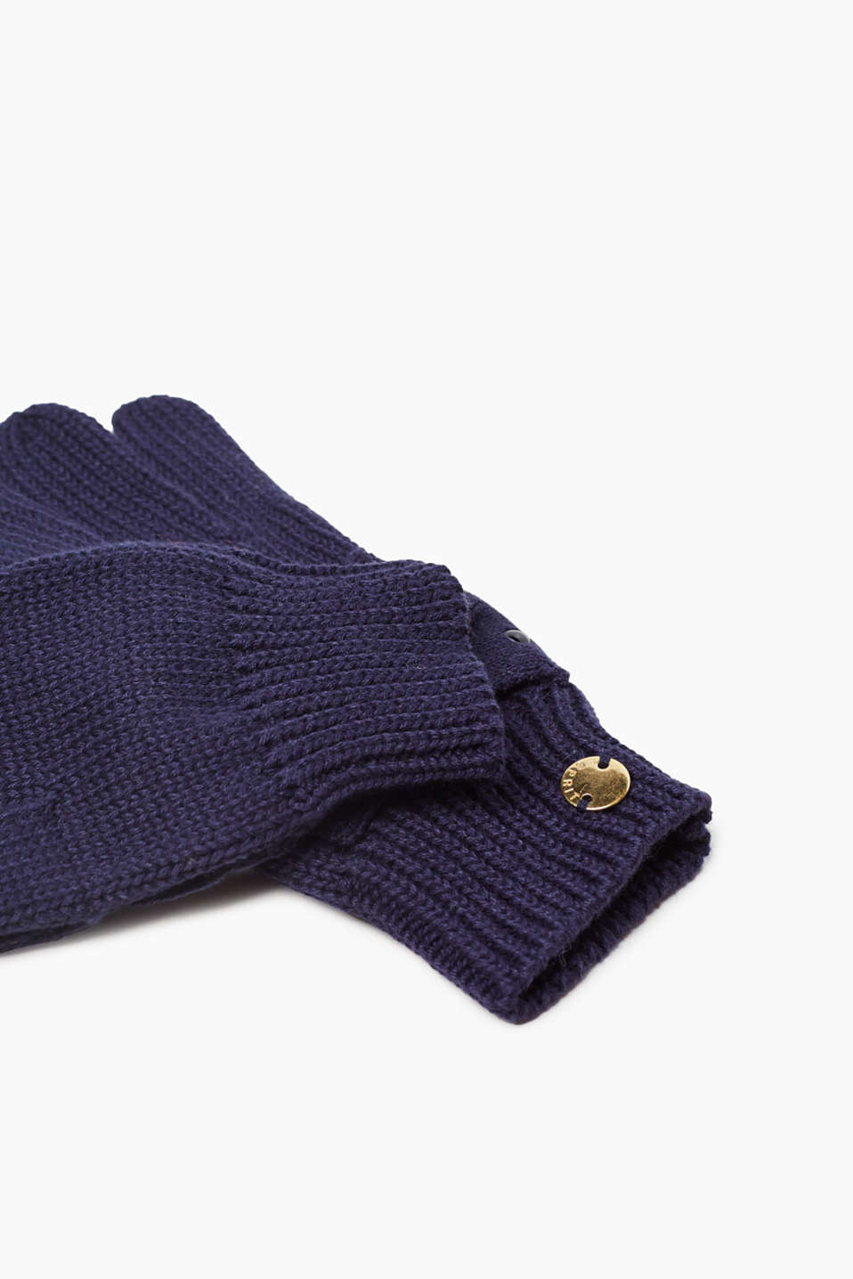 Knitted gloves with a bow detail