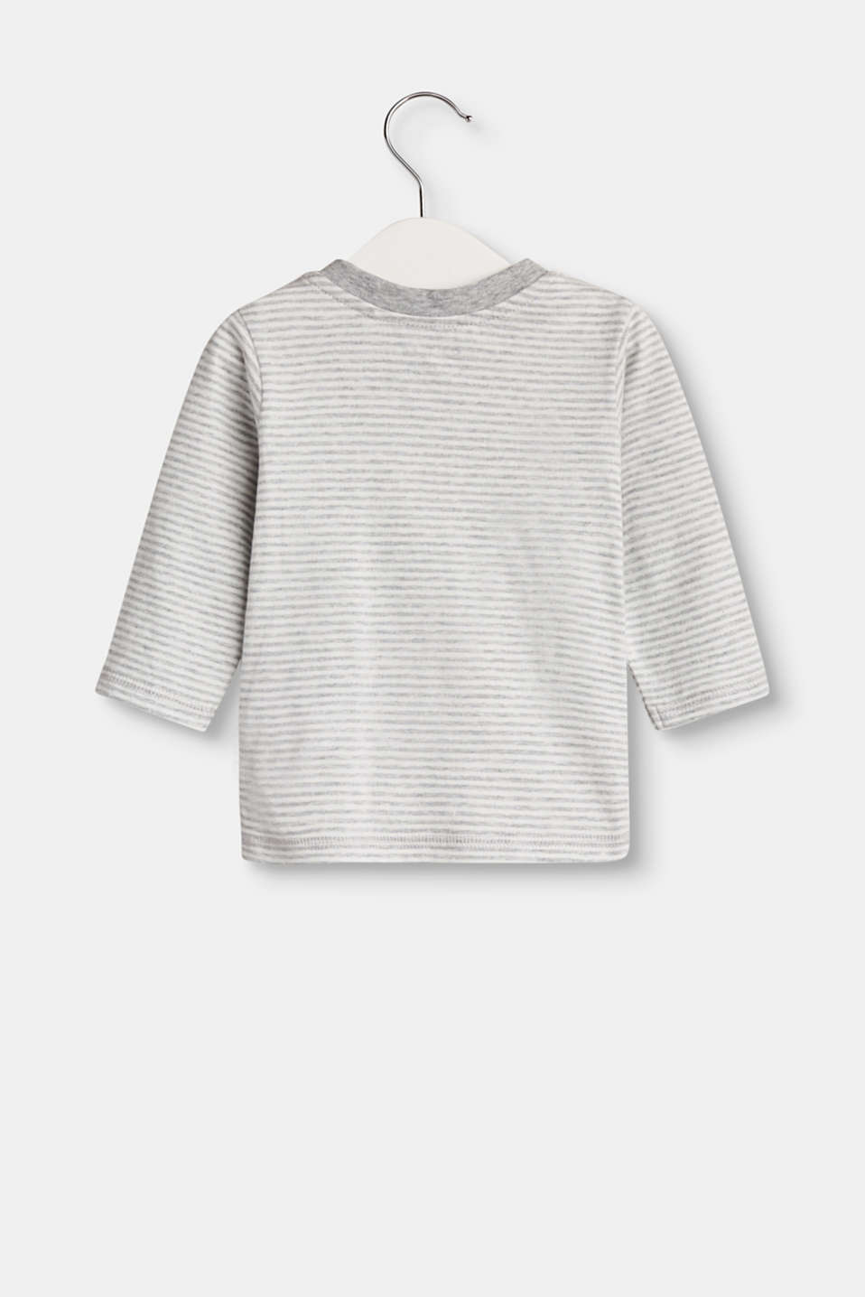 Striped long sleeve top with organic cotton