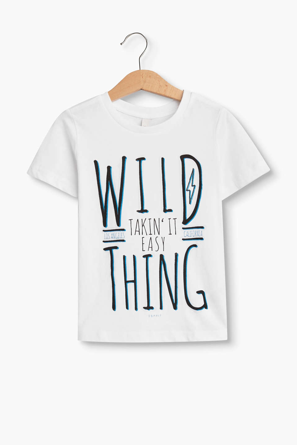 Wild thing! Dit T-shirt is cool dankzij de ironische statement print