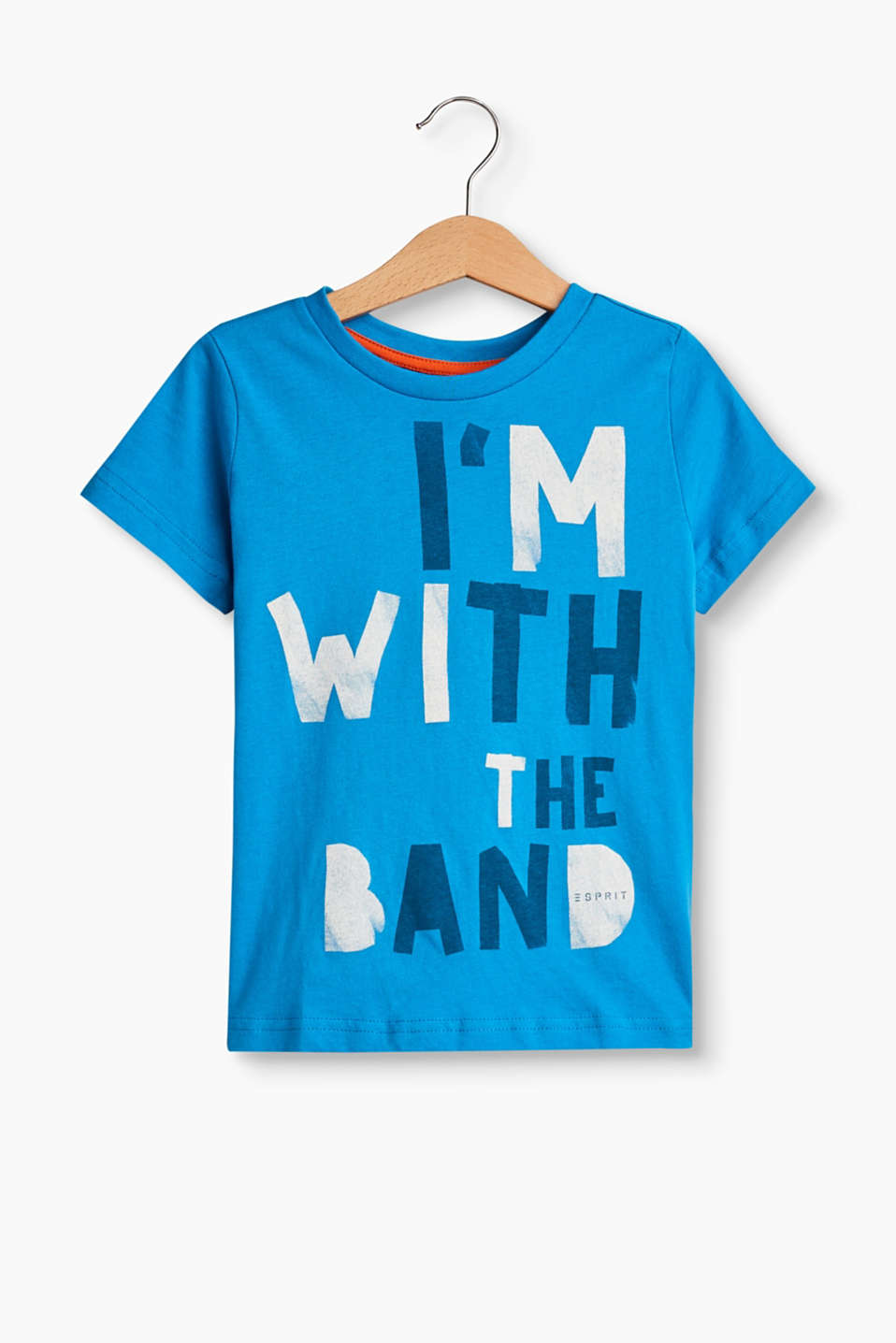 I´m with the band! A cool print for little rock stars: t-shirt in soft blended cotton.