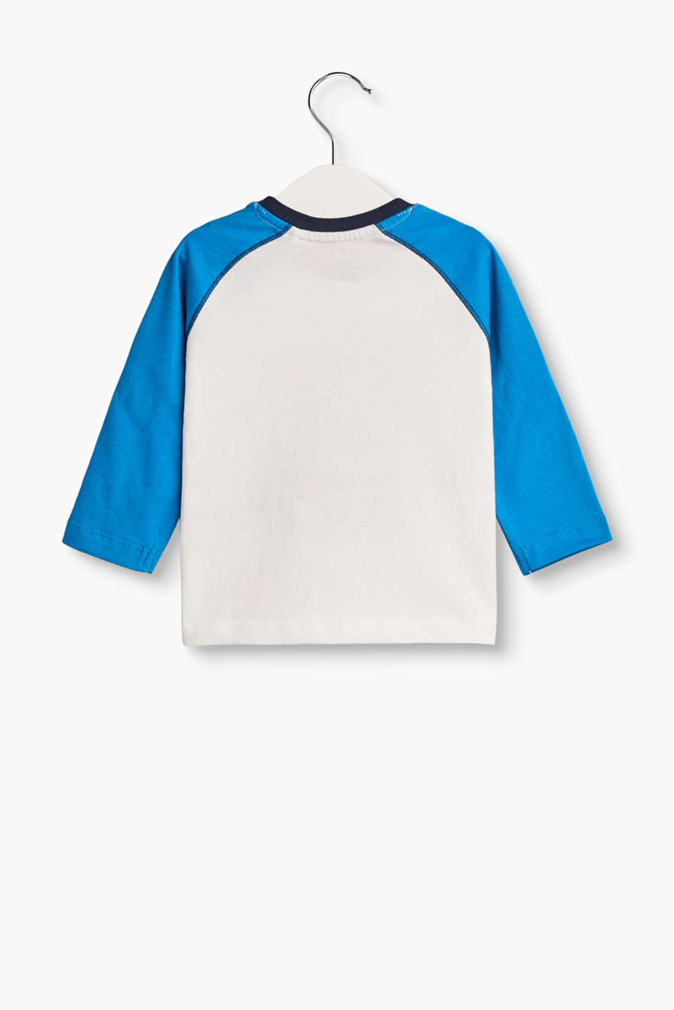 Printed long sleeve T-shirt, 100% cotton