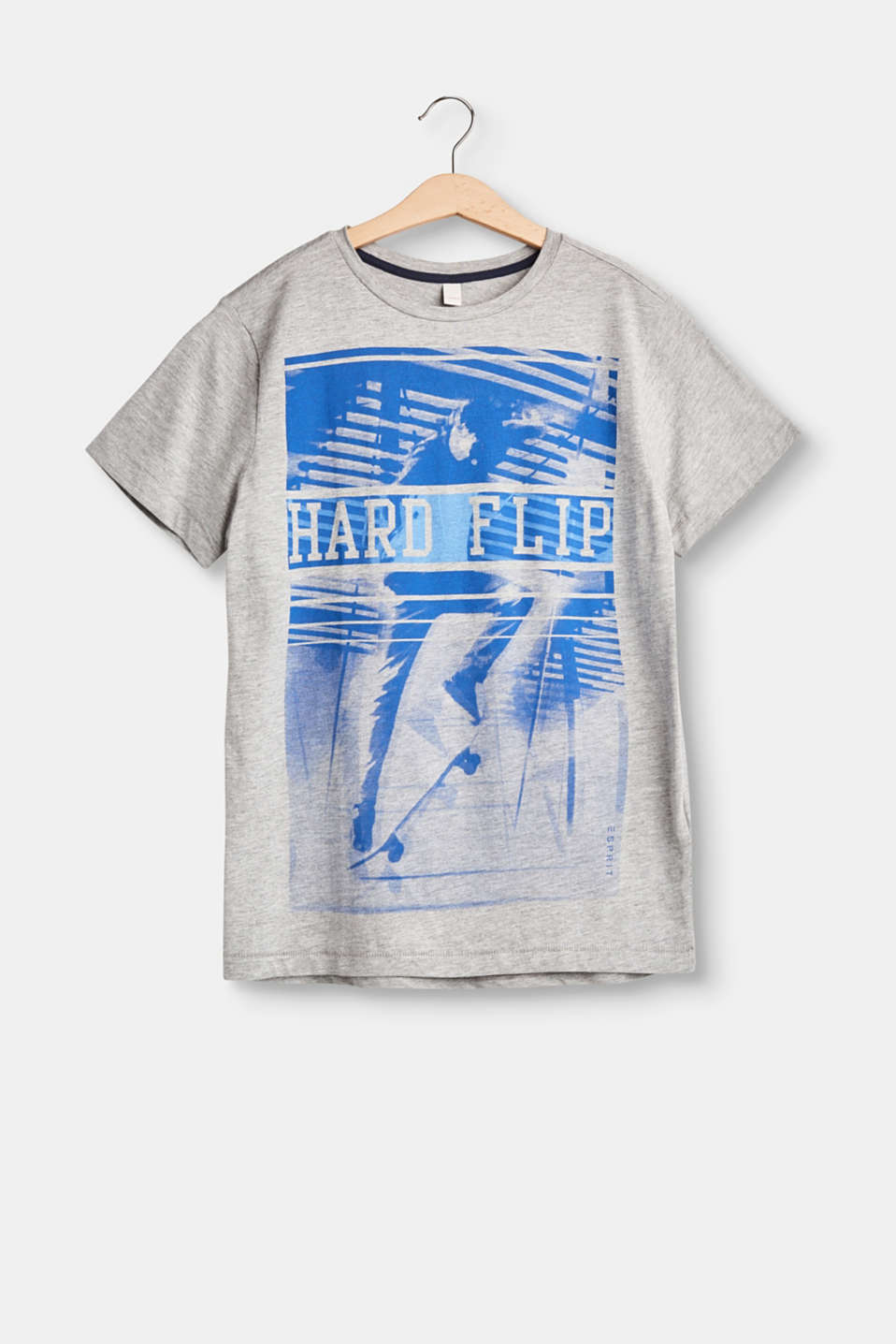 Hard flip! This soft cotton T-shirt with a photo print is the ultimate accessory for cool boys.