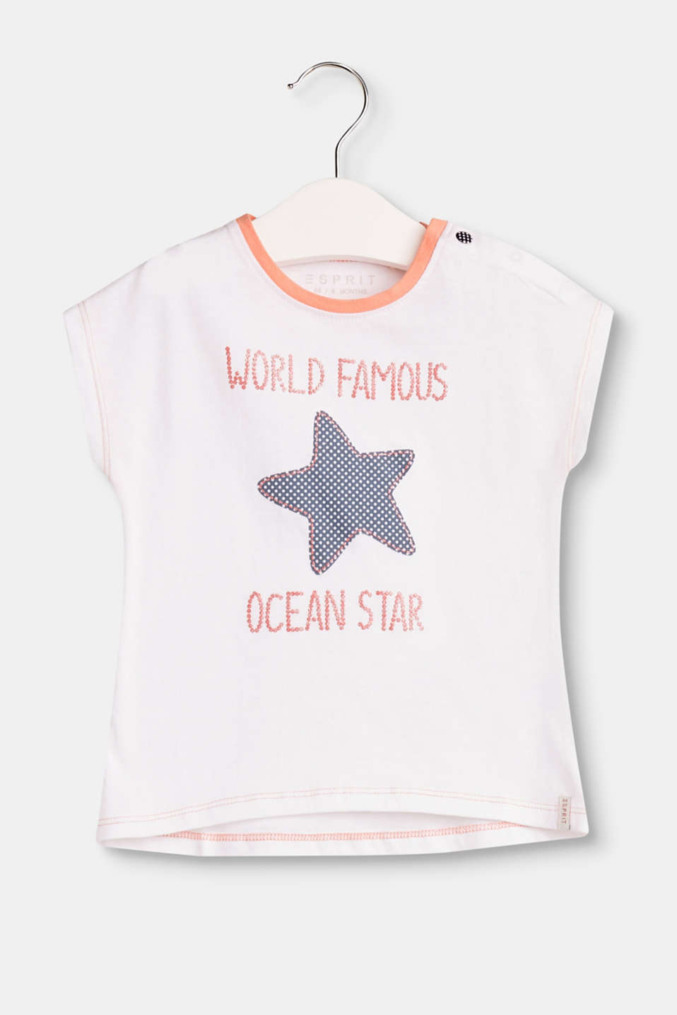 This T-shirt in soft cotton jersey with a partially glittering starfish slogan print is incredibly cute.