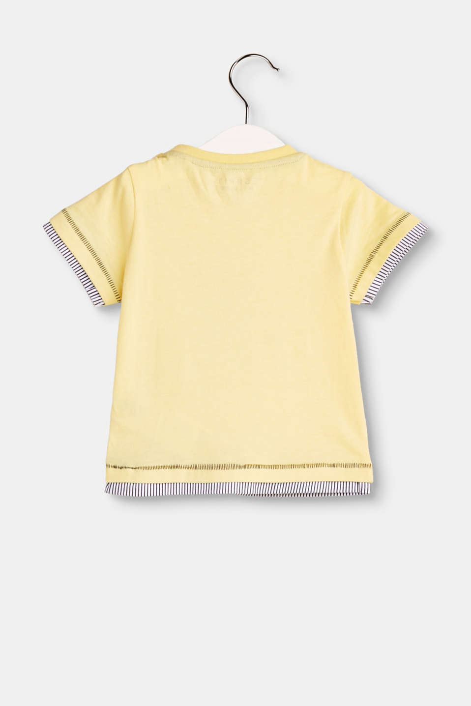 T-shirt imprimé superposé, 100 % coton