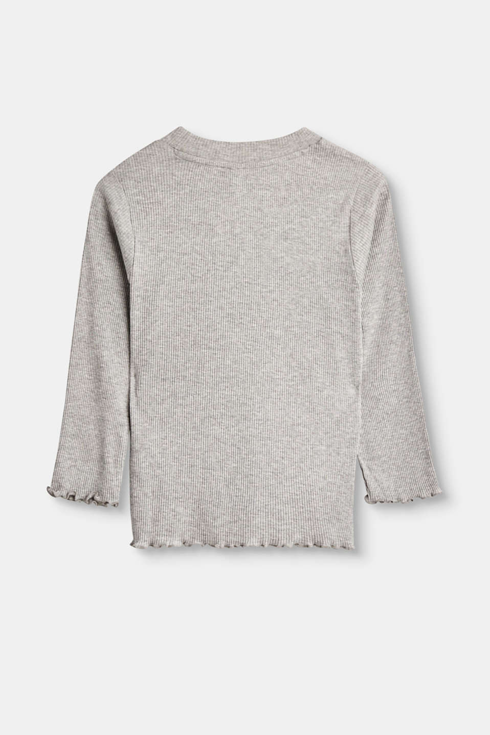 Long sleeve top in soft, ribbed jersey