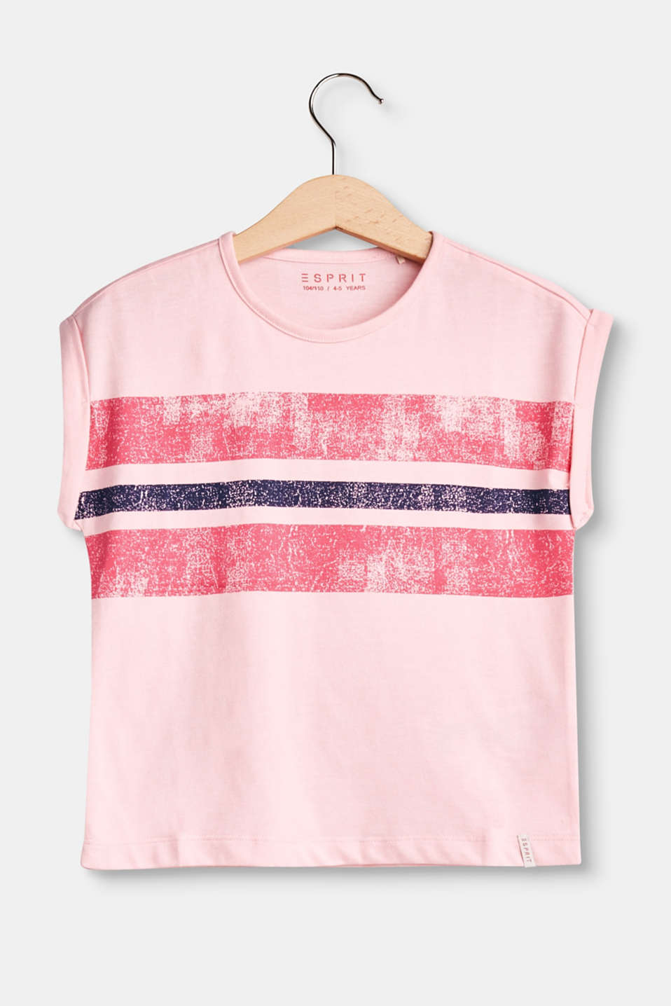 Esprit - Boxy T-shirt with striped print
