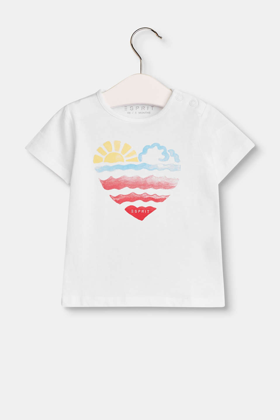 Esprit - T-shirt with a heart print, in 100% cotton
