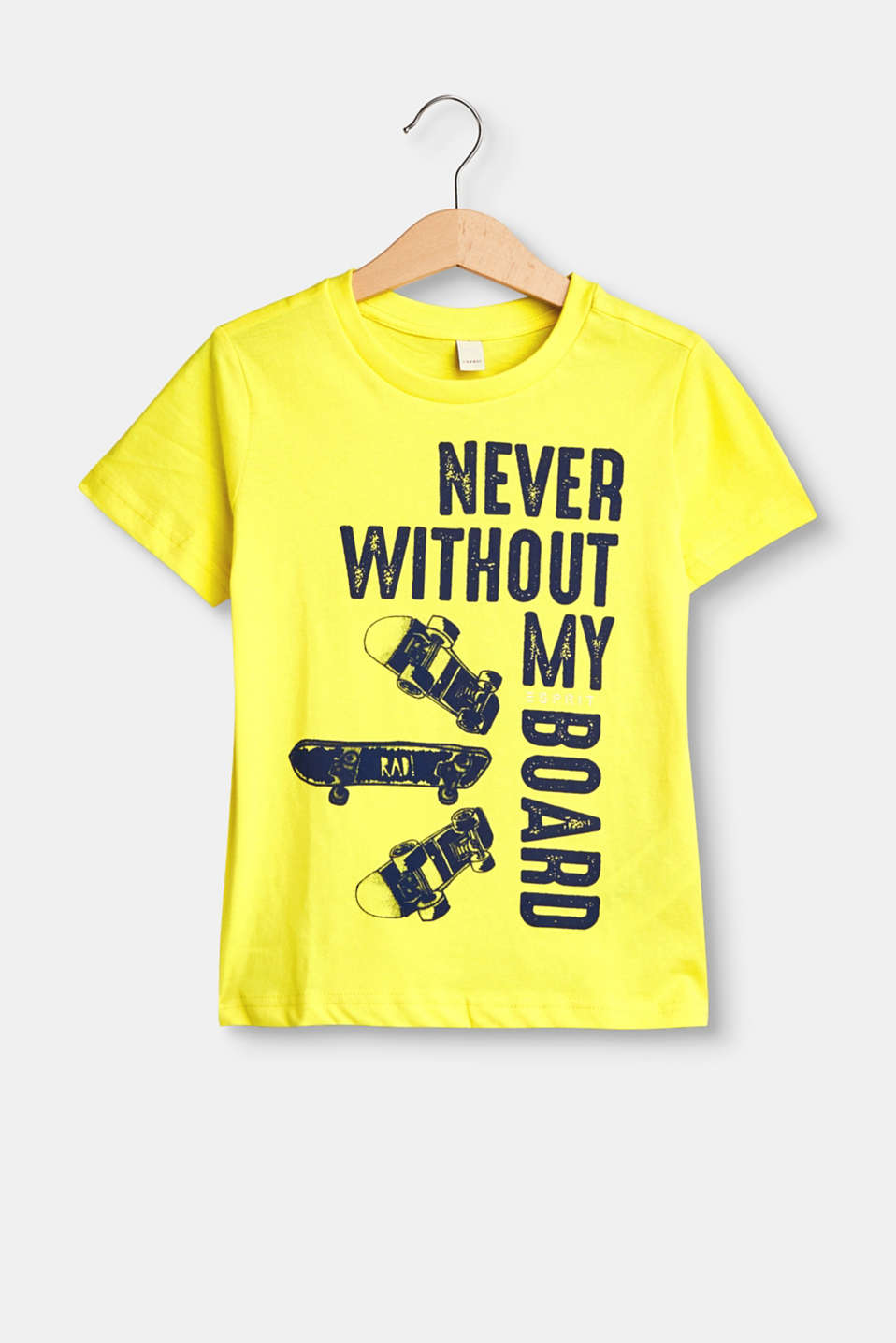 Never without my board: ¡esta camiseta en suave jersey de algodón es ideal para los chicos skater modernos!