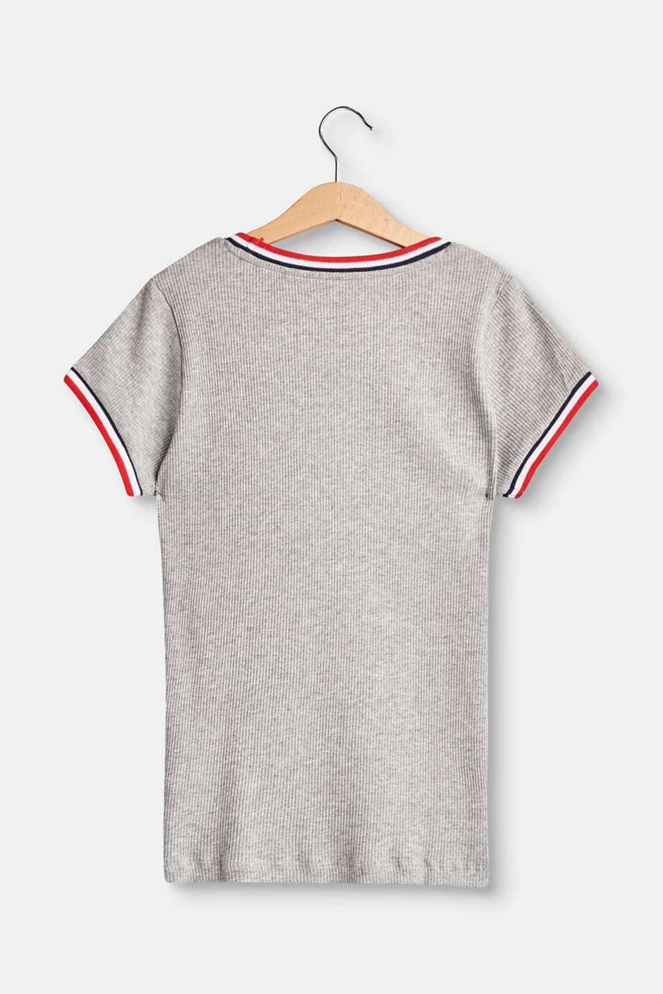 Ribbed T-shirt in 100% cotton