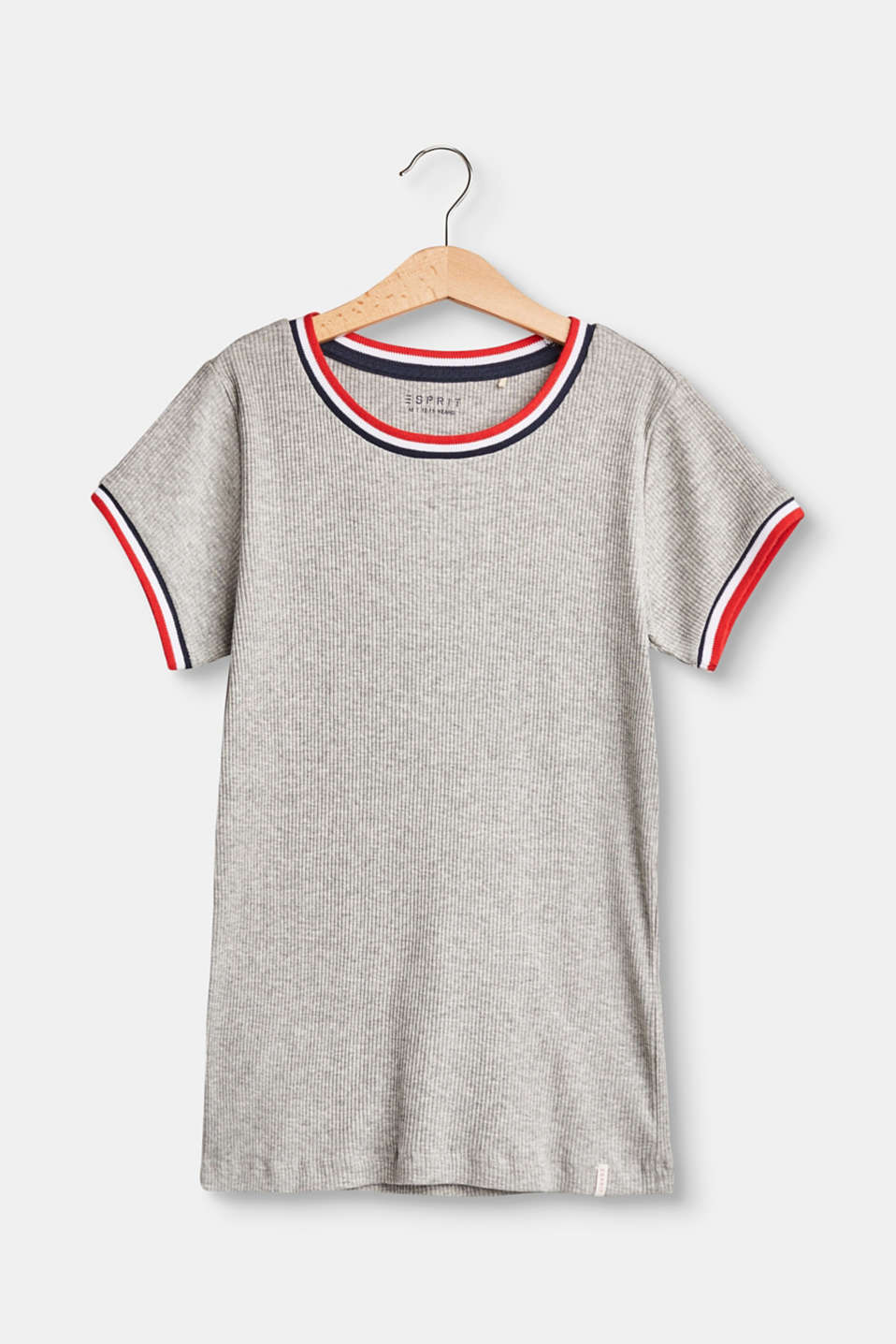 Esprit - Ribbed T-shirt in 100% cotton