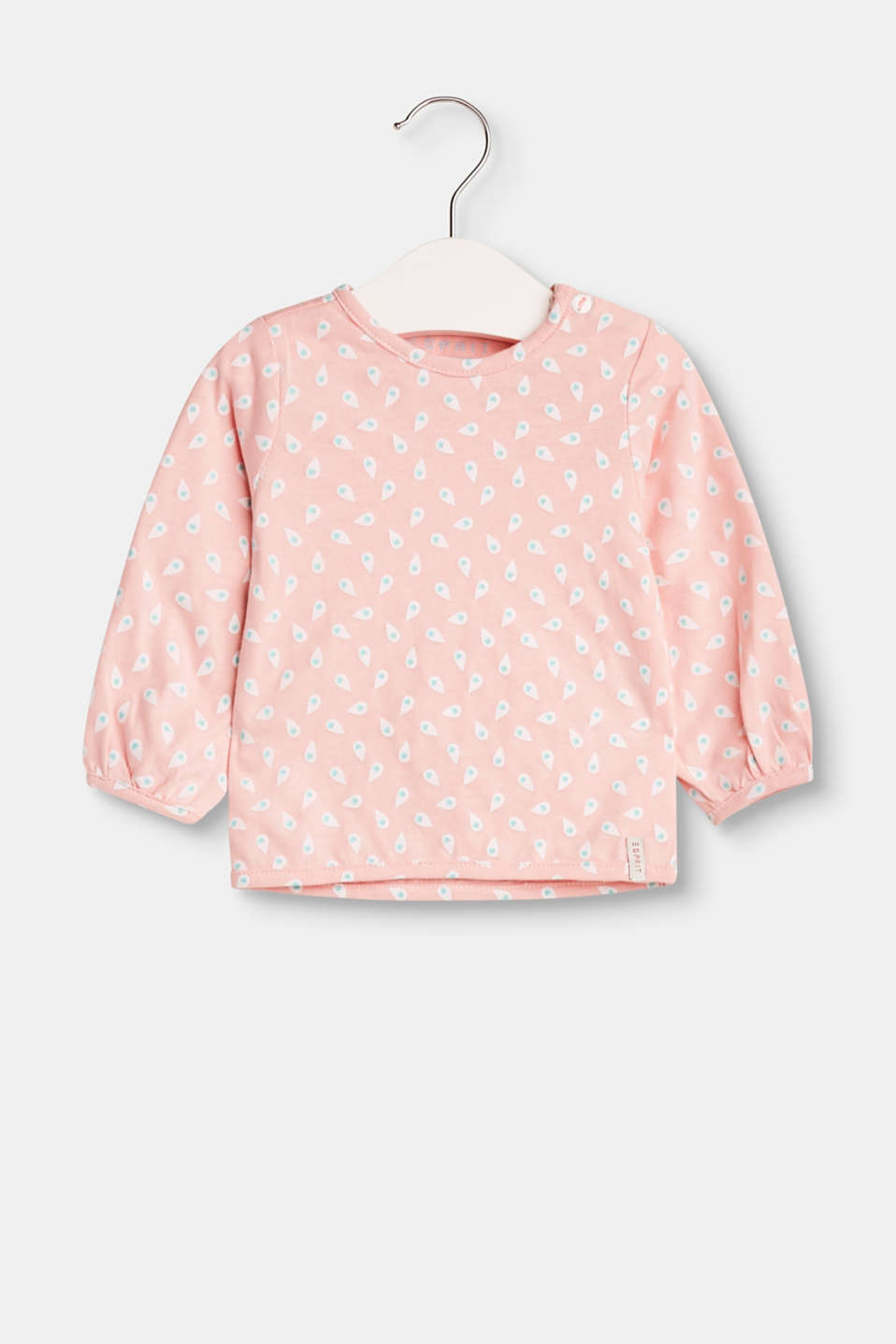 This cotton long sleeve top with high-quality organic cotton and a pretty print is super cute and comfortable.