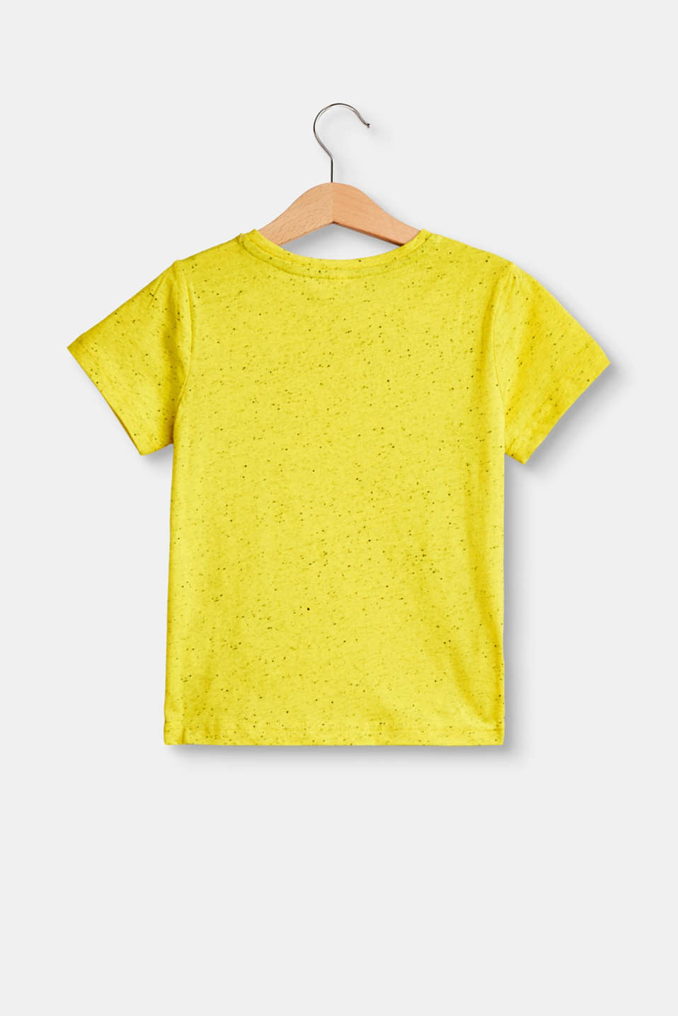 Nubbed T-shirt with a photo print