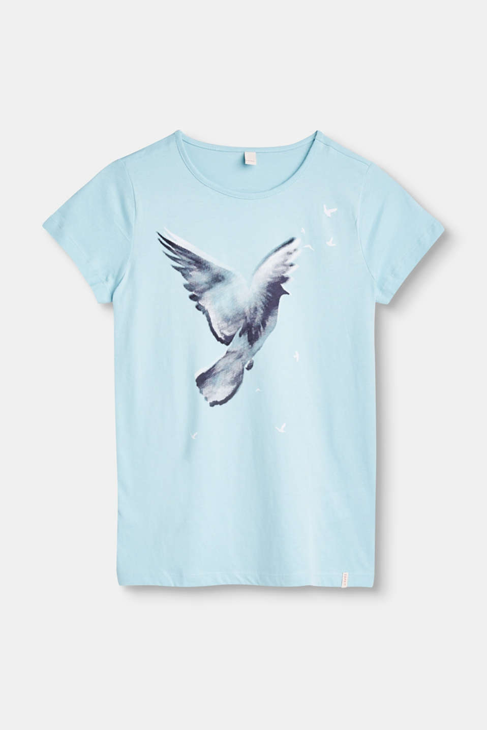 Esprit - T-shirt with a bird print, 100% cotton