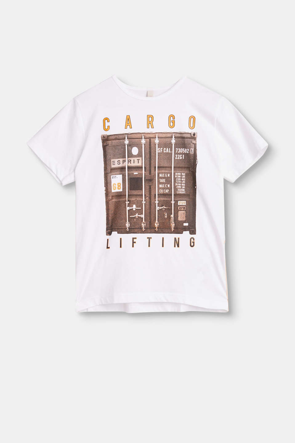 Esprit - Cotton T-shirt with a cool cargo print