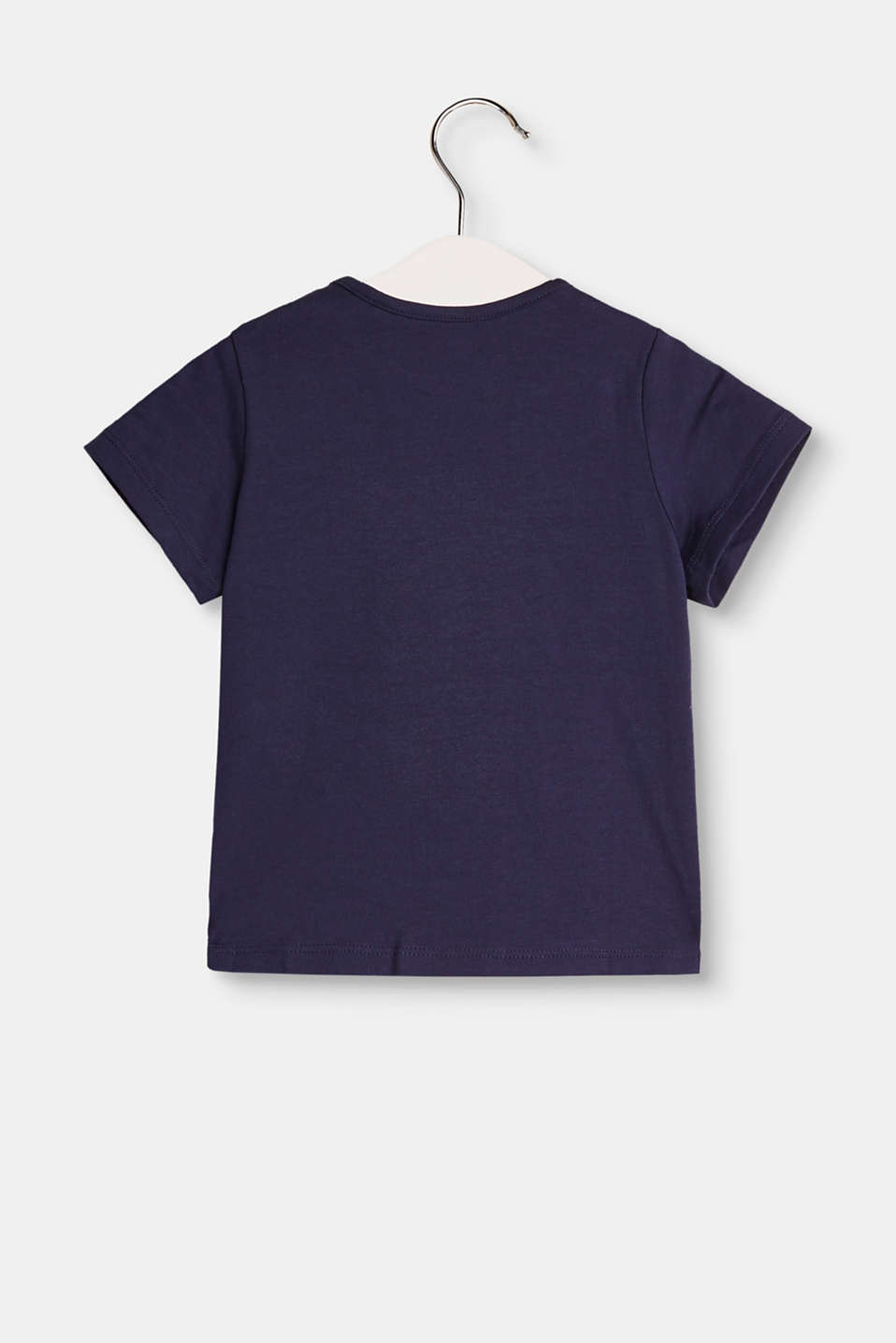 Stretch cotton top with a logo print