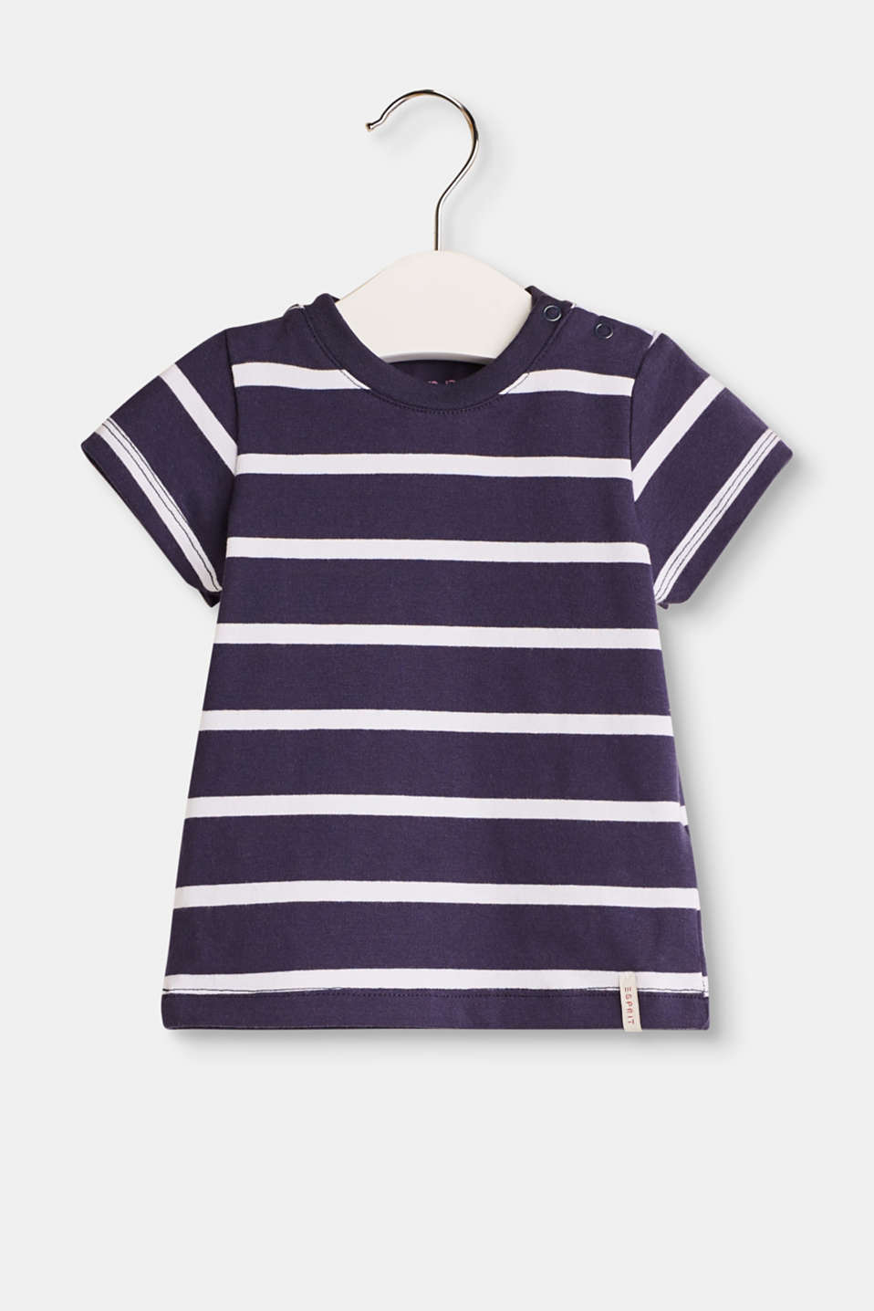 Esprit - T-shirt with nautical stripes, 100% cotton