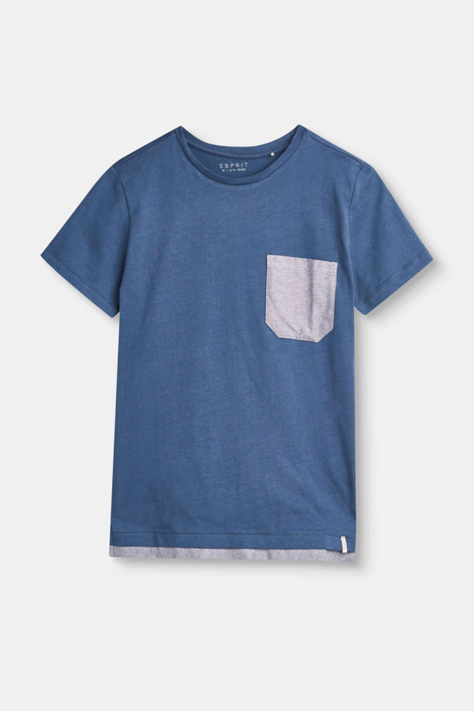 Esprit - Cotton T-shirt with a breast pocket