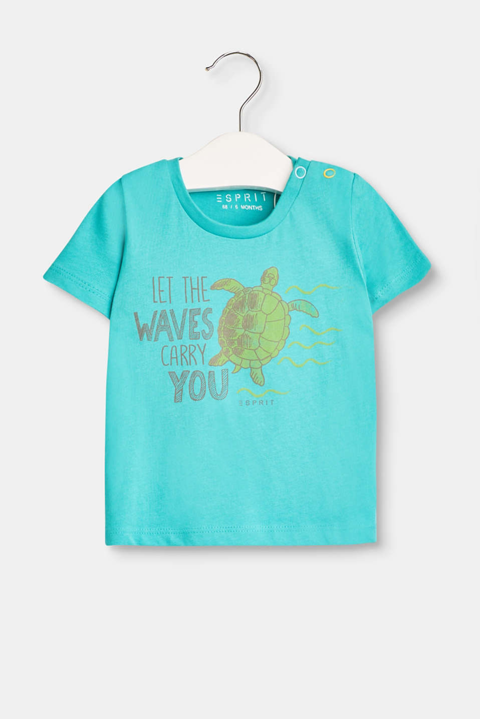 Esprit - Cotton T-shirt with turtle print
