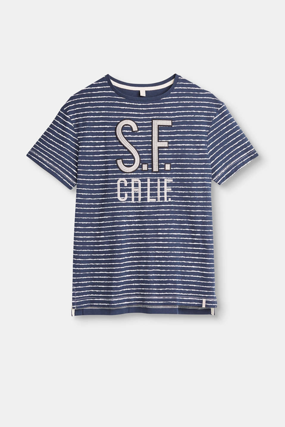 Esprit - Striped jersey top in cotton