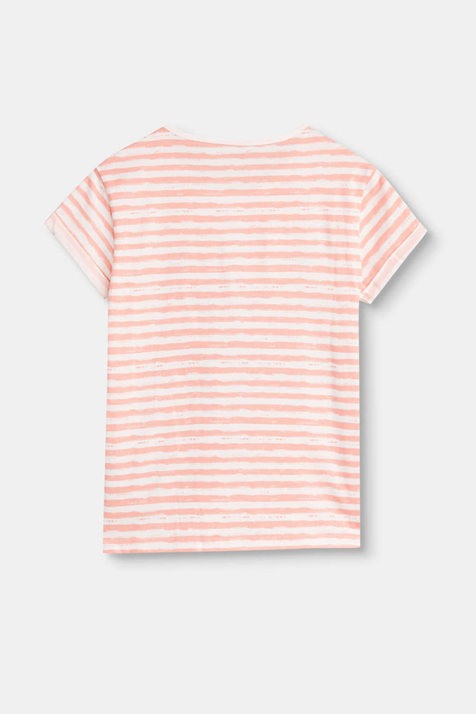 Striped T-shirt with a sequinned logo