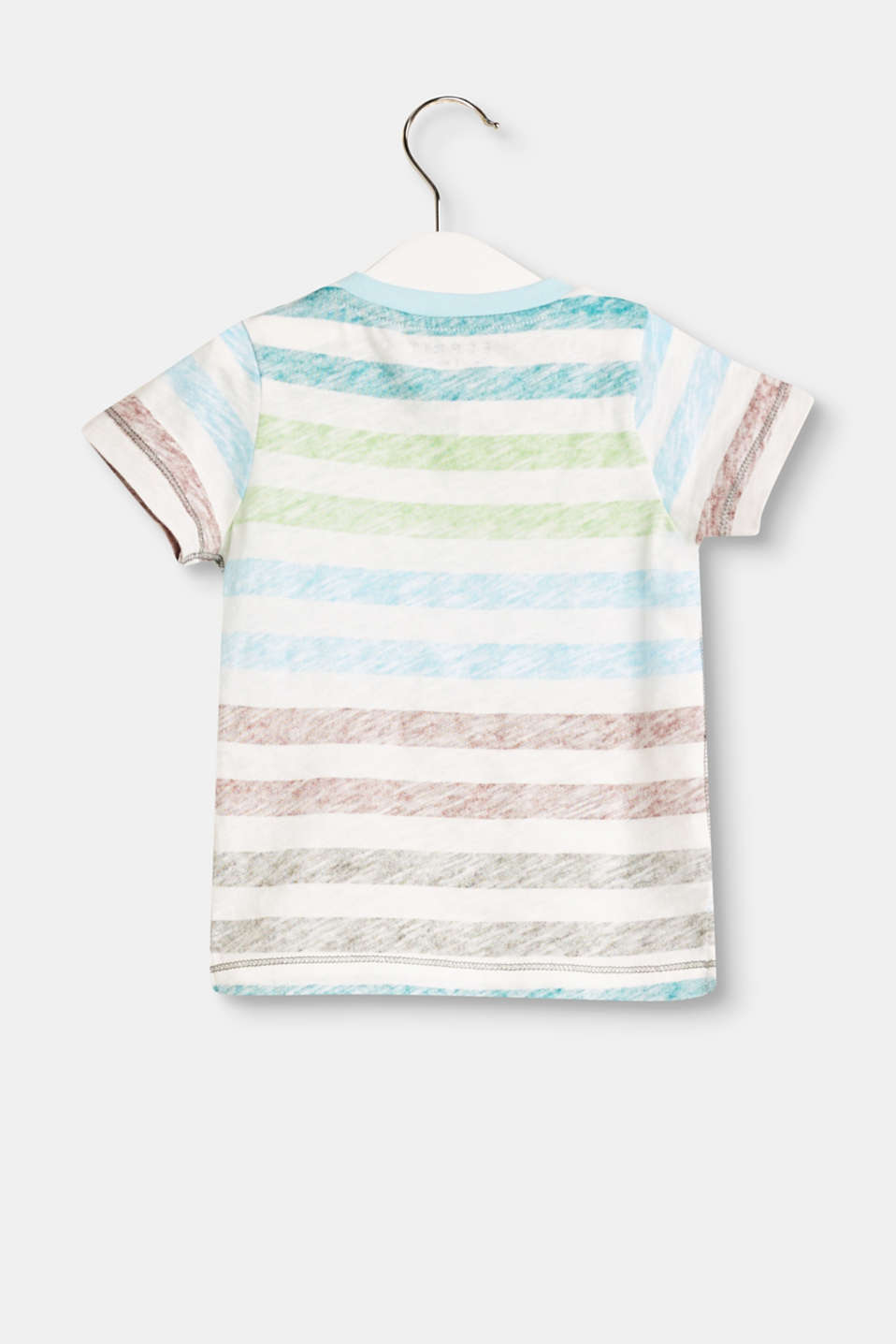 Slub T-shirt with inside-out stripes, 100% cotton