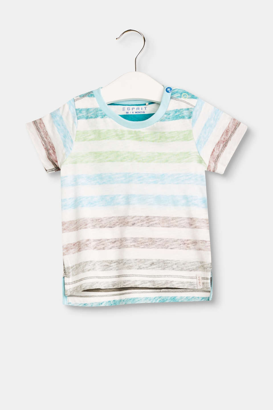 Our favourite stripes seem brand new when they're applied on the inside but shimmer through on the outside: T-shirt made of airy slub jersey.