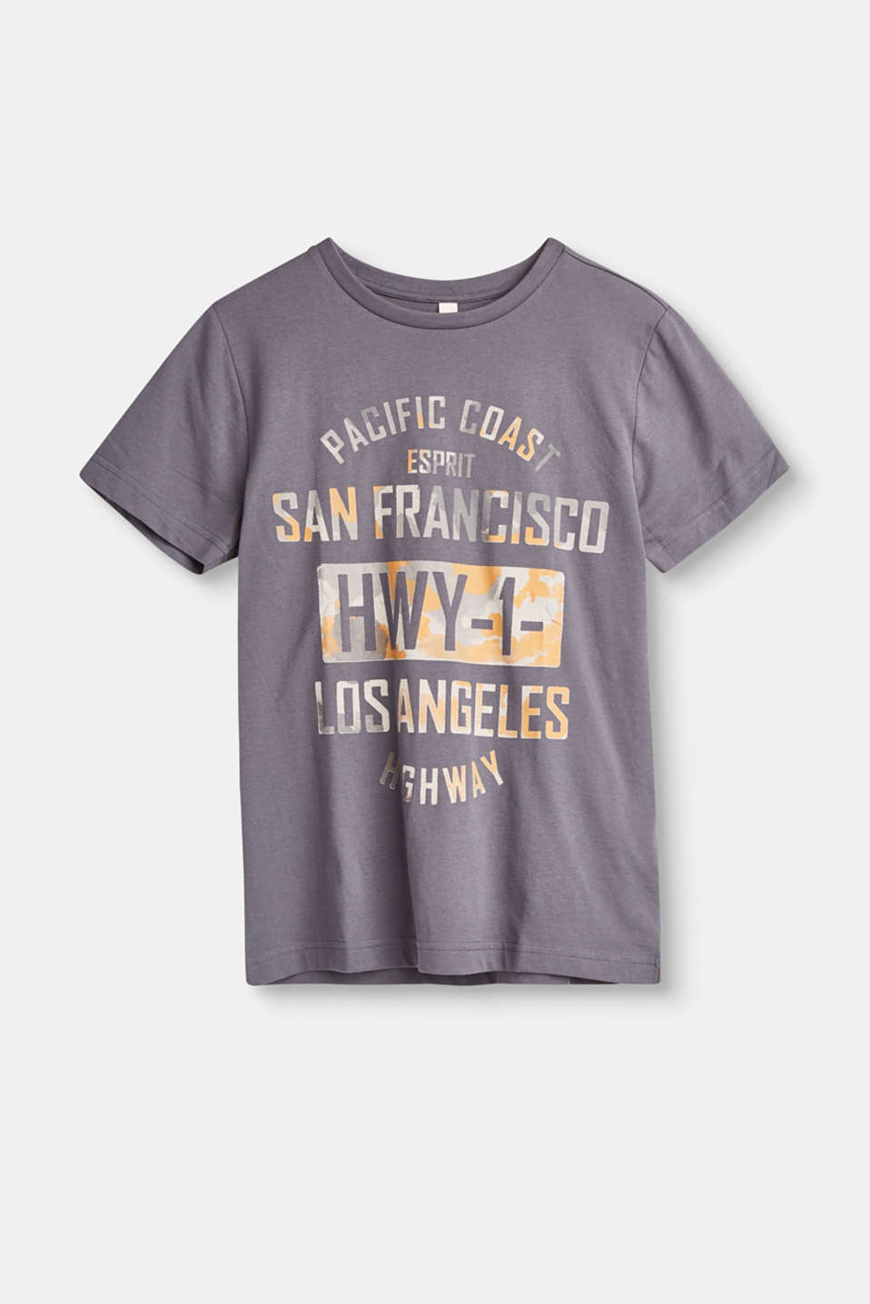Greetings from California! This cotton T-shirt with a statement print flies the flag for the Pacific coast.