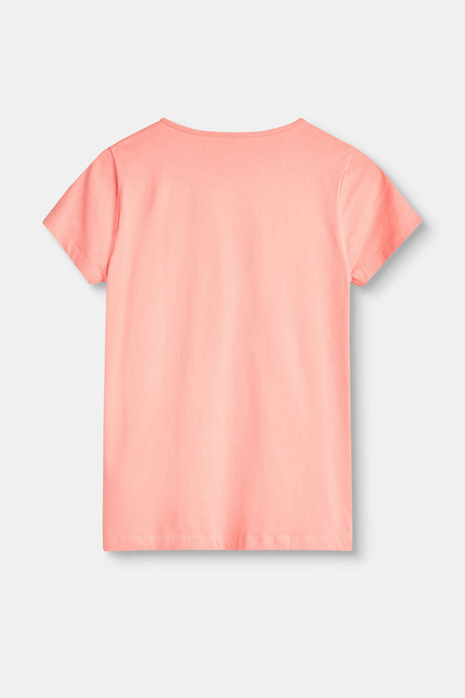 T-shirt with rubberised statement print in cotton