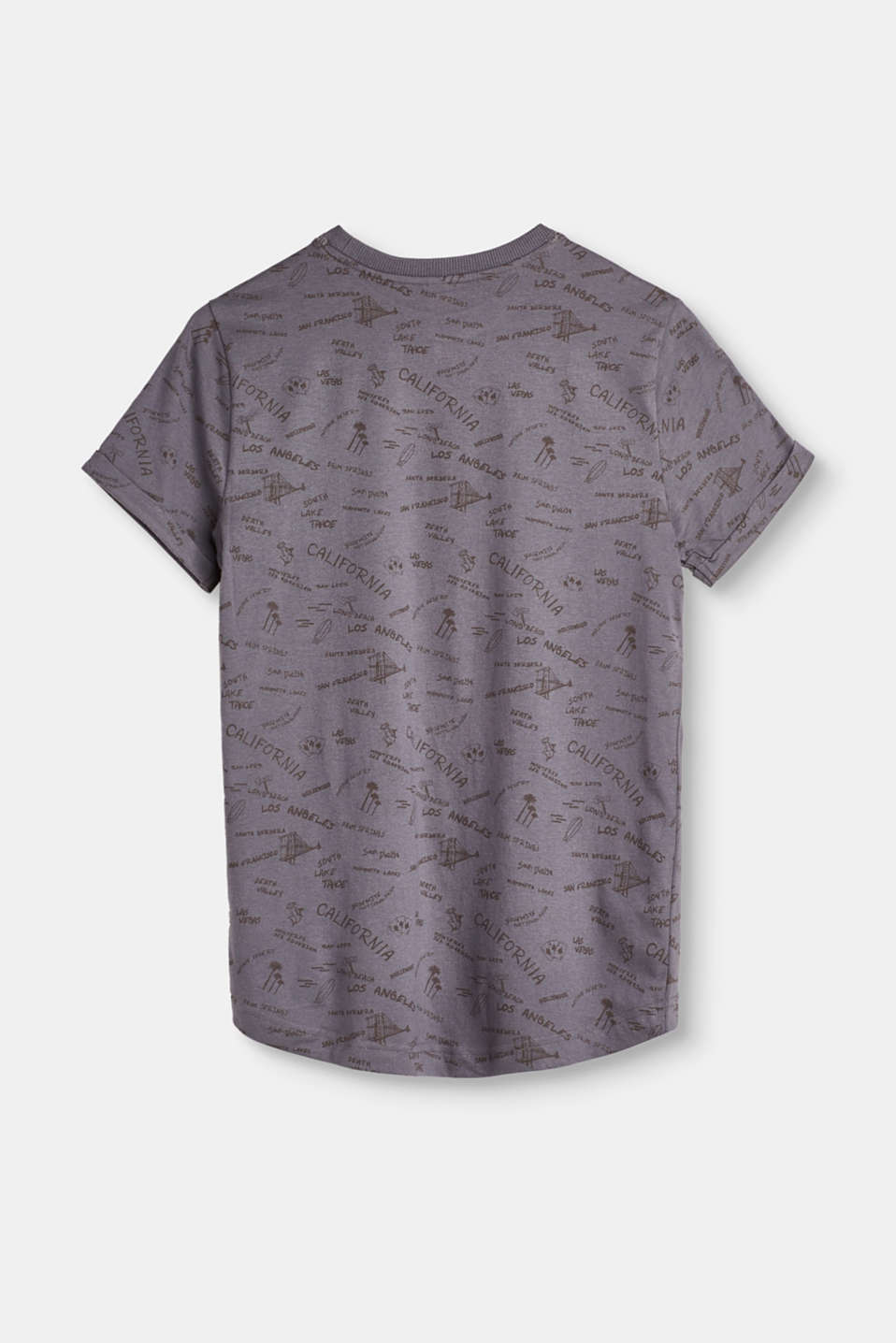 Melange T-shirt with all-over print