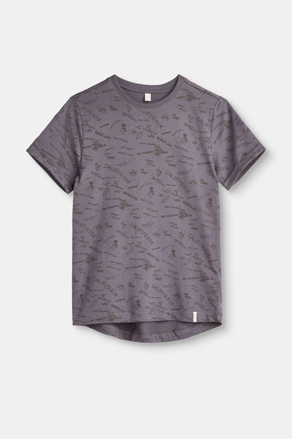 Esprit - Melange T-shirt with all-over print