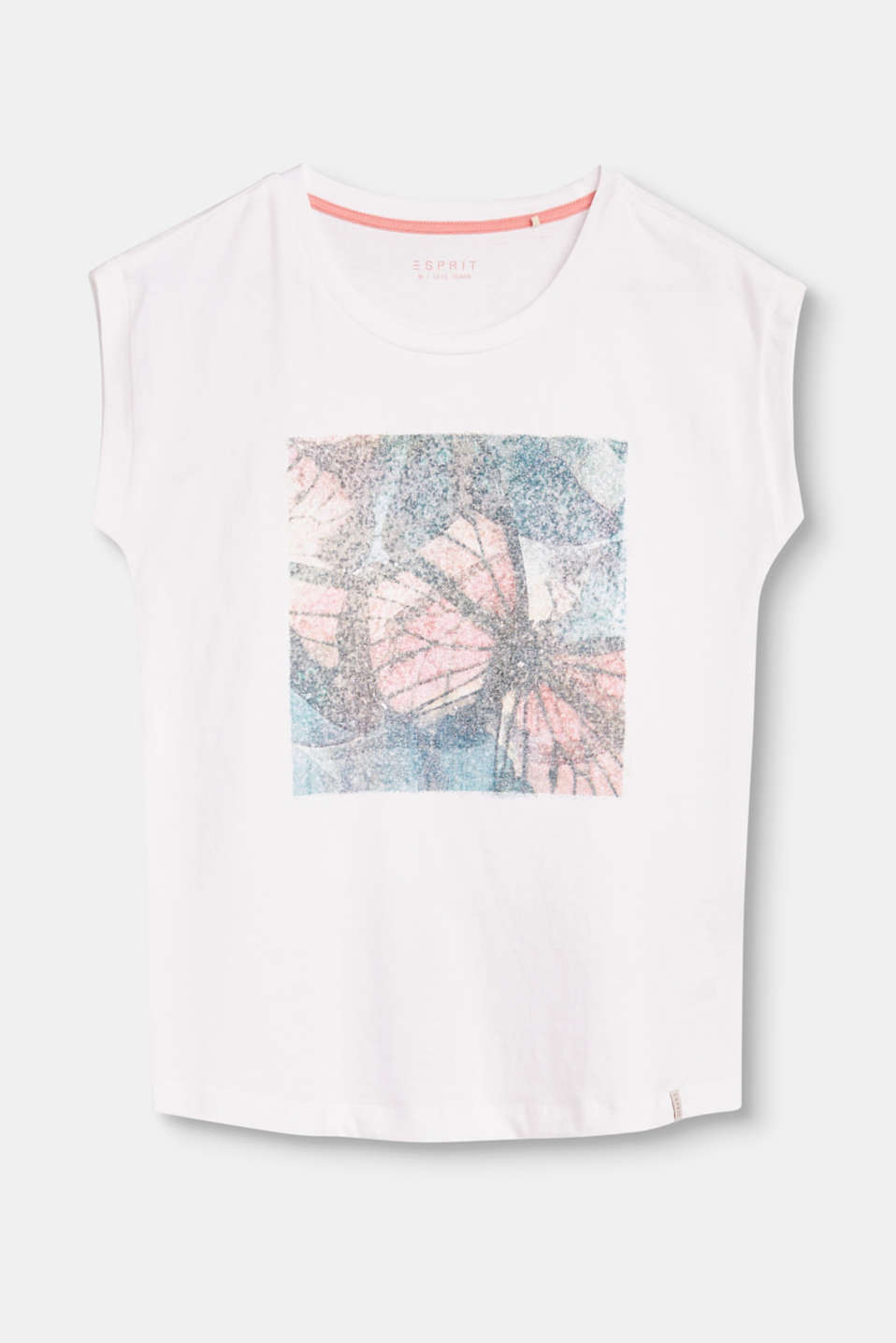 Esprit - Cotton t-shirt with glitter print
