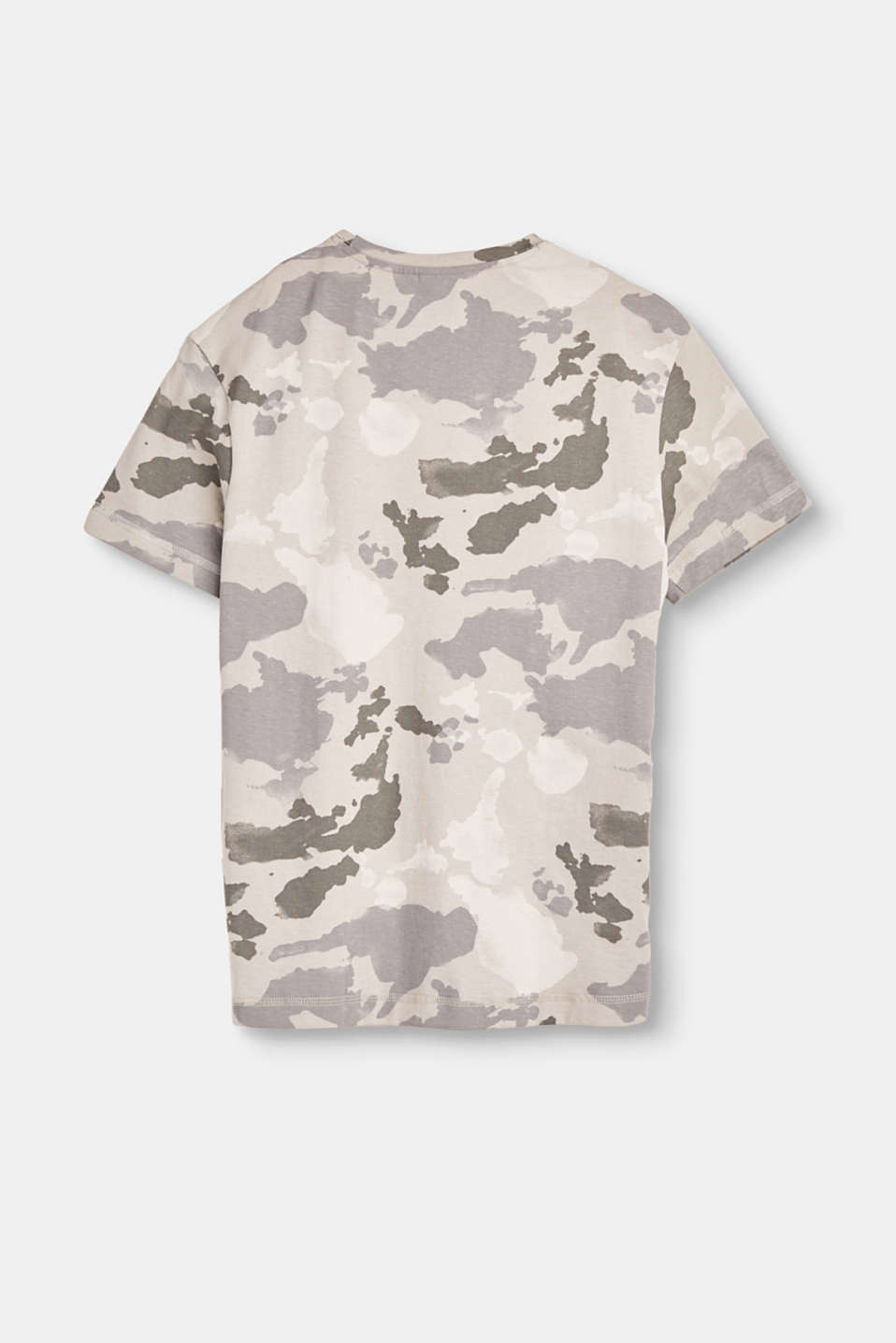 Cotton T-shirt with a camouflage pattern