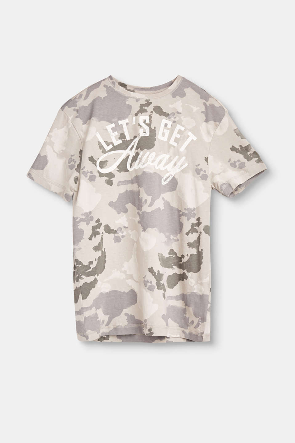 Esprit - Cotton T-shirt with a camouflage pattern