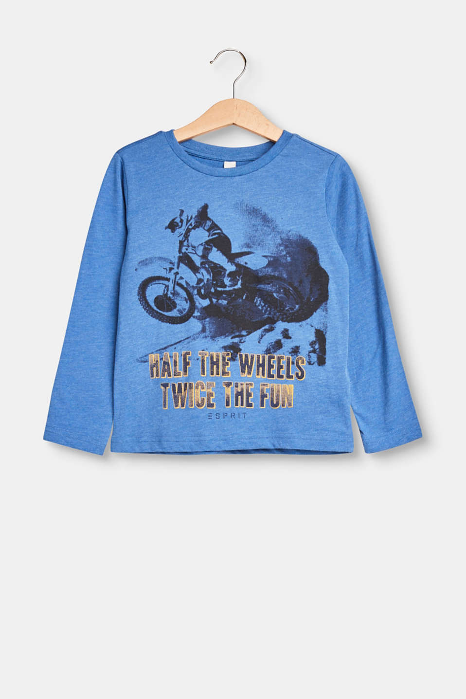Esprit - Melange long sleeve top with motorcycle print