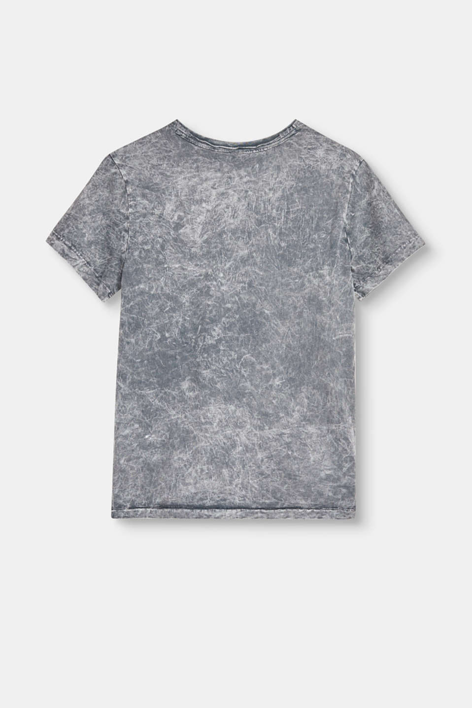 Henley T-shirt with a dye effect in a marble look