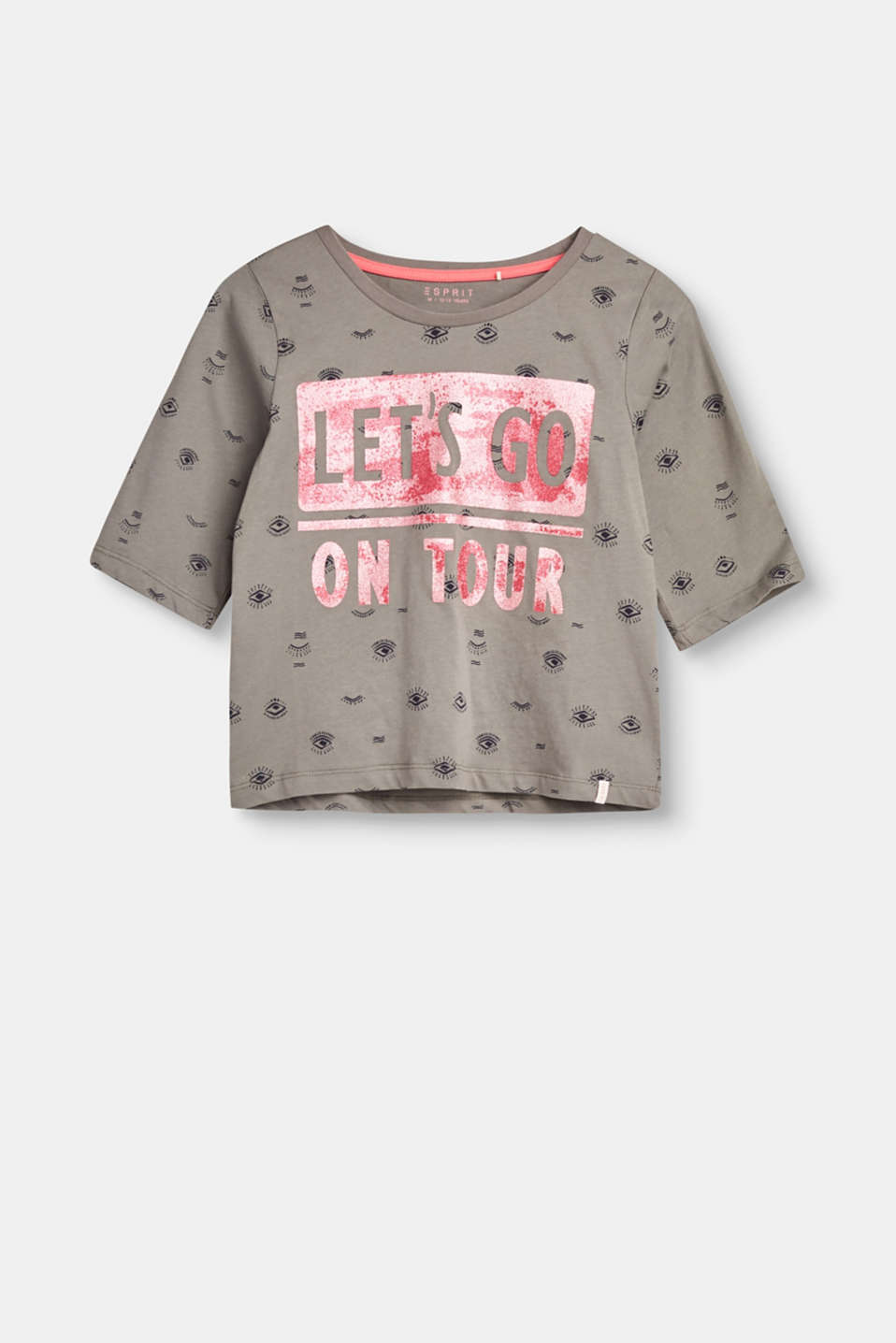 Esprit - Glitter print cotton T-shirt