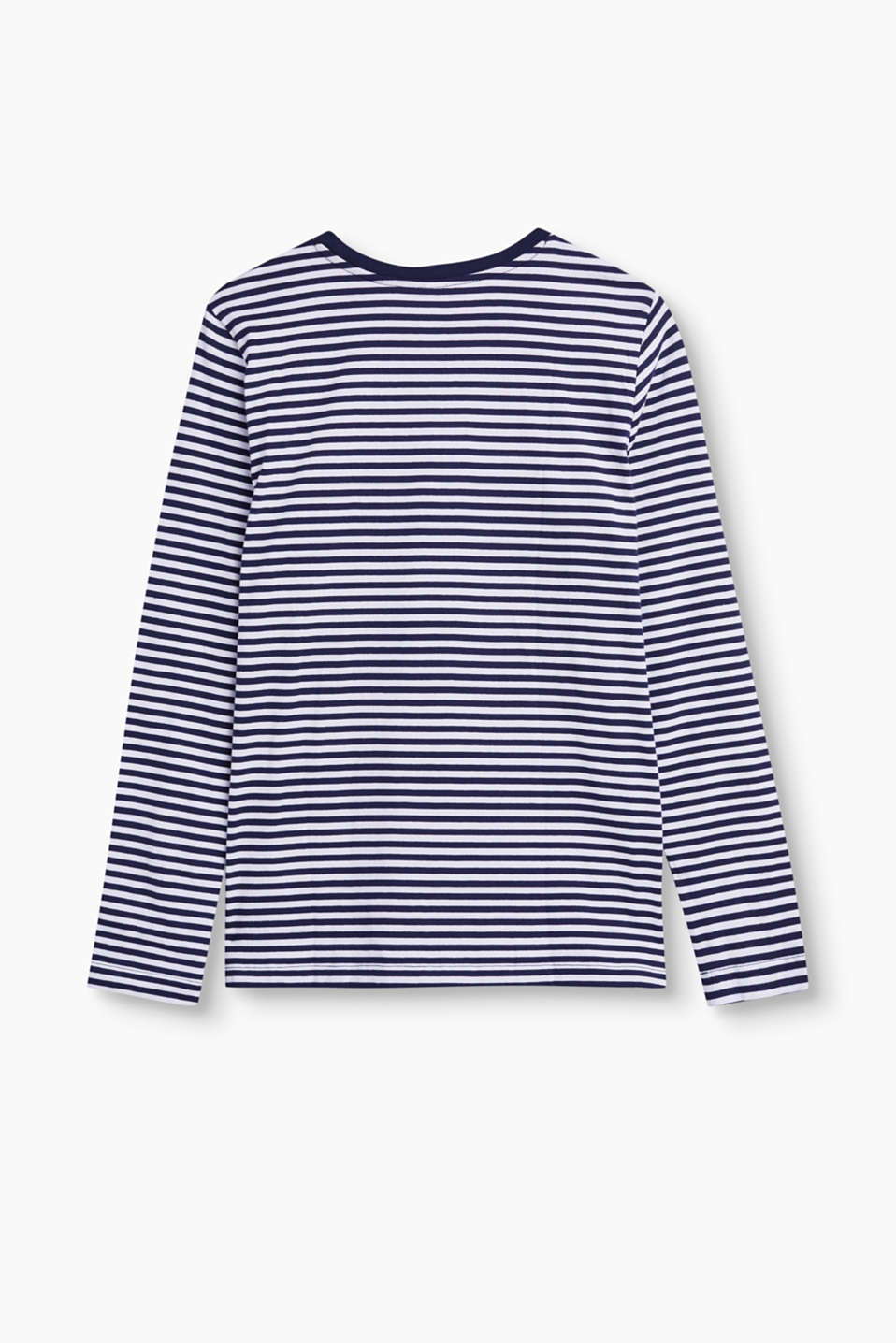 Striped long sleeve top in 100% cotton