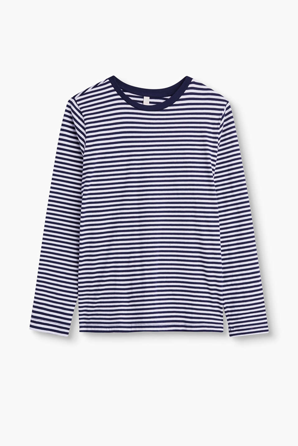 Esprit - Striped long sleeve top in 100% cotton
