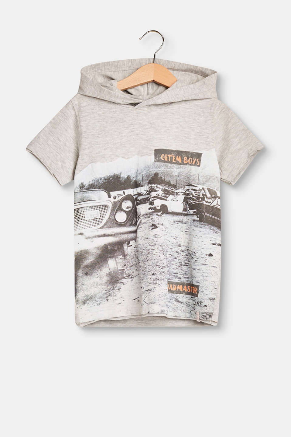 Esprit - Hooded T-shirt with a photo print