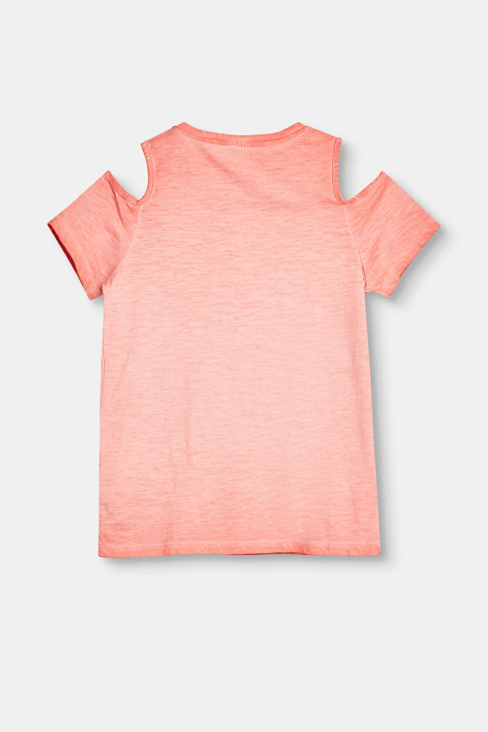 Cold-Shoulder-T-Shirt mit Peace-Applikation